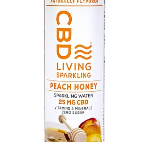 CBD Sparkling Water PEACH HONEY